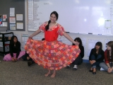 Danya presents a traditional Paraguayan dress